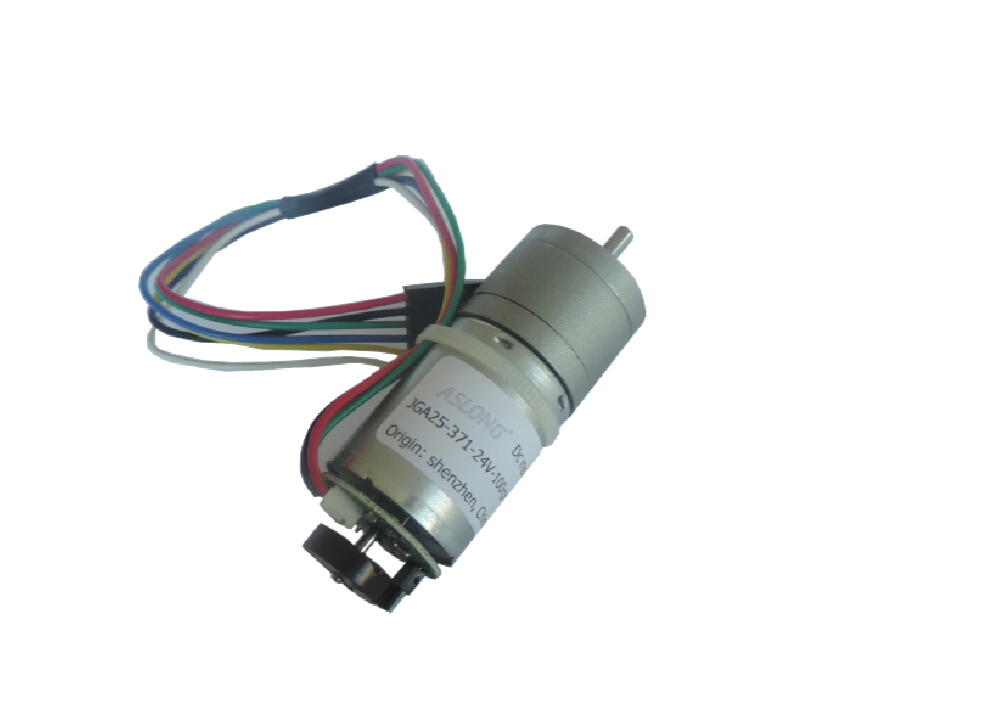 Diy 6 24v dc gear motor encoder slowdown motor speed for Dc gear motor with encoder