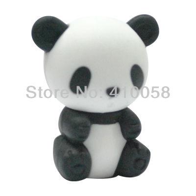 wholesale cute animal chinese panda eraser,200 pcs per parcel freeshipping service(China (Mainland))