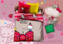 Package mail cotton four piece cartoon Hello Kitty three-piece children's bedding wholesale factory direct(China (Mainland))