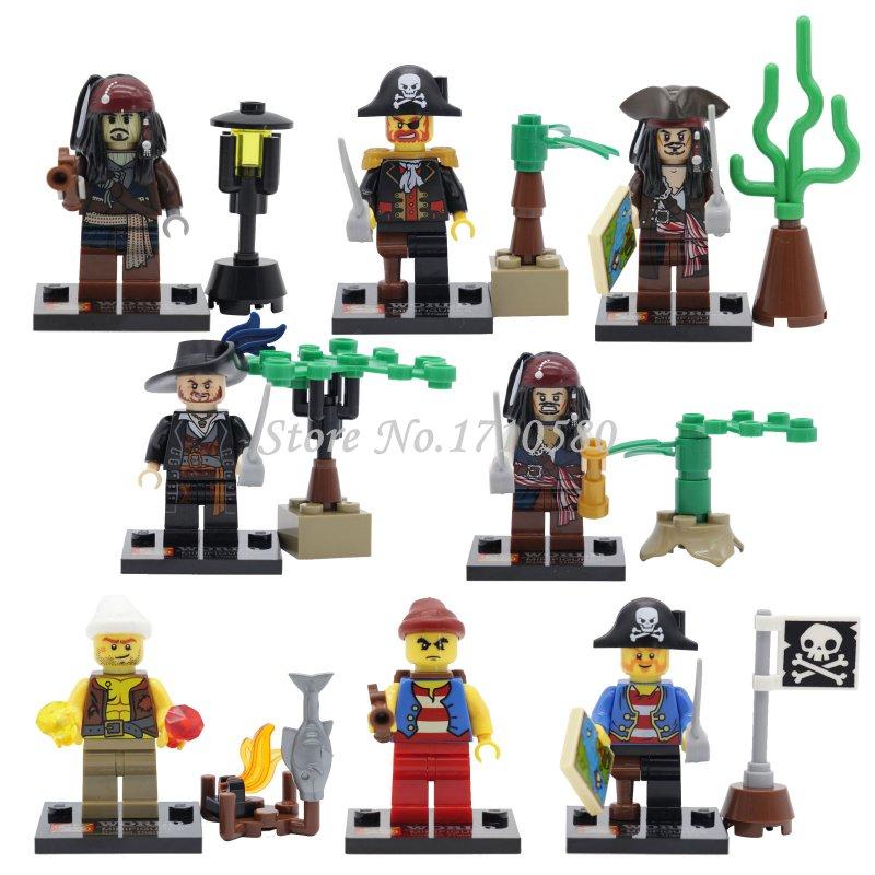 SY273 Pirates of the Caribbean Captain Jack Sparrow Davy Jones Maccus Minifigures Building Block Set Model Bricks Toy legoelieds(China (Mainland))