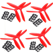 4 pair 5045 6045 white red black Three 3-Blade L/R CW CCW Propeller For Multi Copter(China (Mainland))