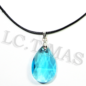 New Cosplay Sword Art Online SAO Kirito & Asuna's Child Yui Blue Crystal Gem Stone Pendant Necklace