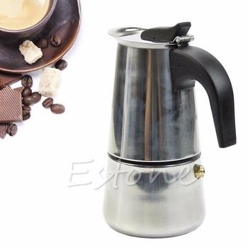Из нержавеющей стали 2-Cup журнальный кофеварка плита латте мокко эспрессо горшок