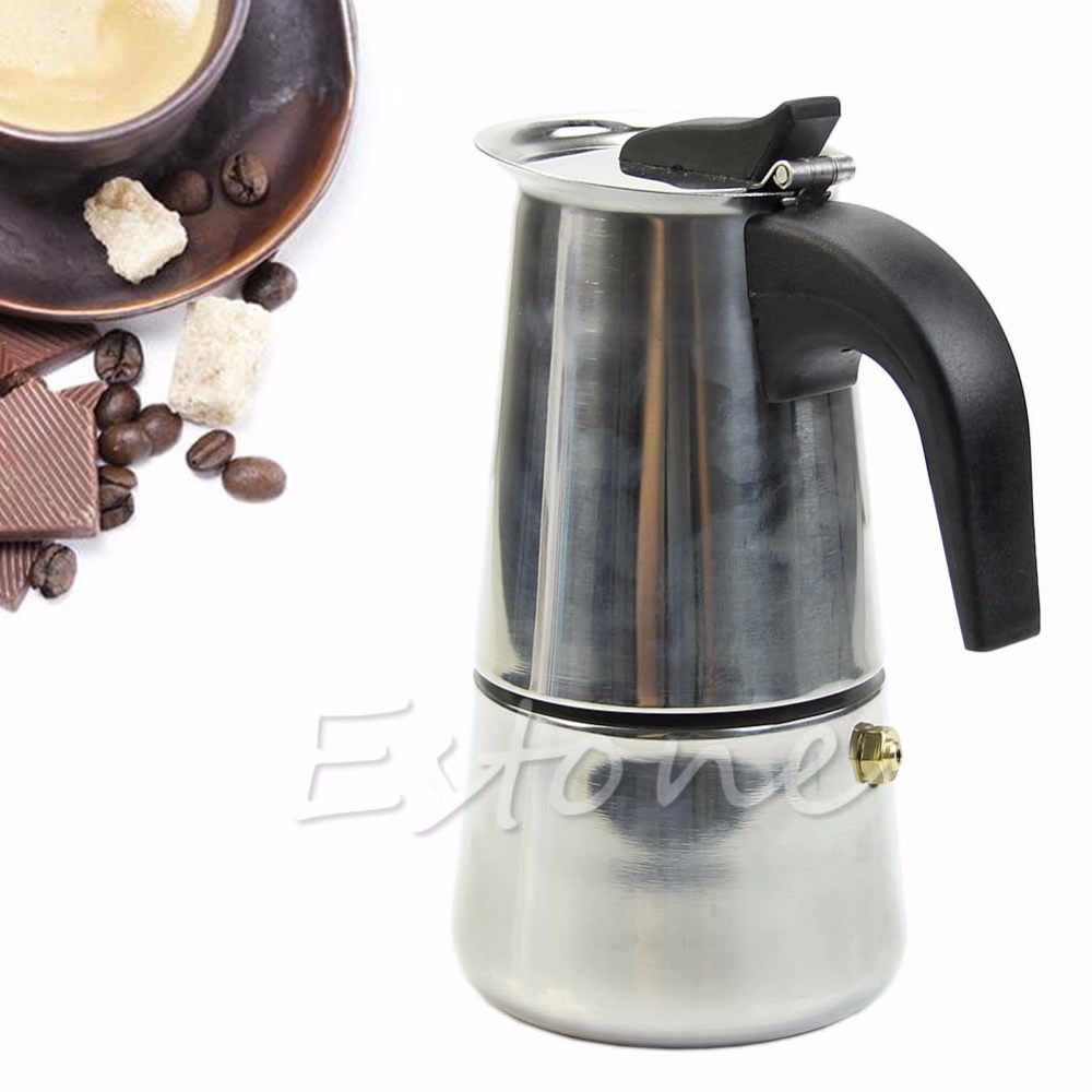 Stainless Steel 2-Cup Top Coffee Maker Percolator Stove Latte Moka Espresso Pot(China (Mainland))