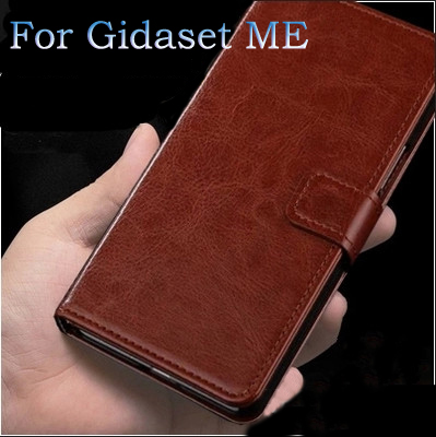 Free Shipping PU phone cover cases Cortex Leather button mobile cover case Gigaset Me GS55-6 Wallet style mobile phone bag(China (Mainland))