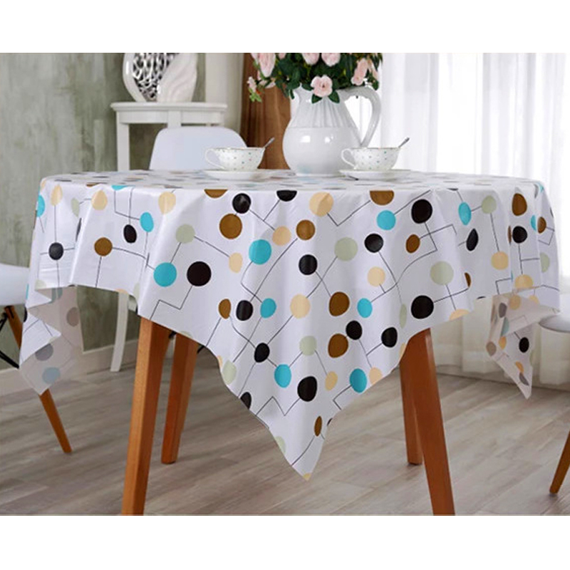 PVC Table Cloth Waterproof Oilproof Plastic Pad Easy Clean Soft Tablecloth Kitchen Dinning Room Table Cover 53x98inch(China (Mainland))