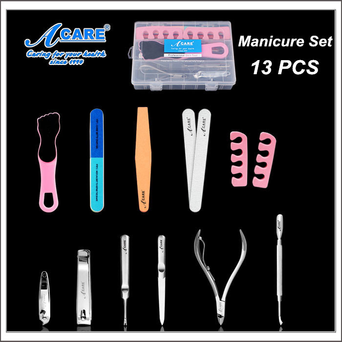 FREE shipping Acare nail care beauty manicure tools nail files clippers nippers feet rasp(China (Mainland))