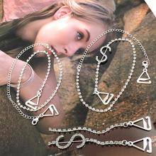 BB172-025 6pairs/lot free shipping women apparel underwear accessories crystal rhinestone decorative dolloar sign girl bra strap(China (Mainland))