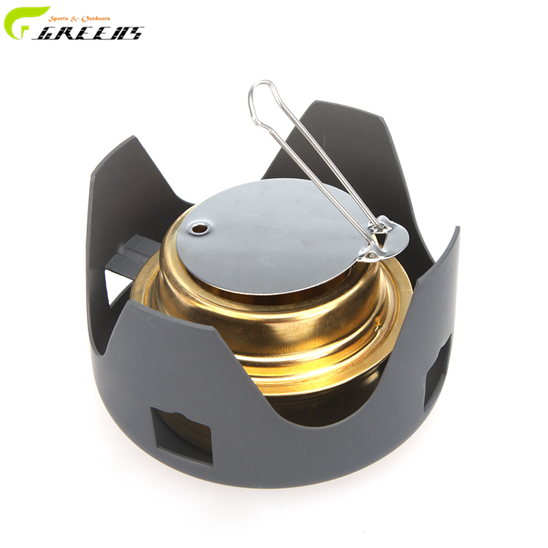 Outdoor Picnic Stove New Mini Ultra-light Spirit Combustor Alcohol Stove Camping Furnace Camping Portable Folding/Outdoor stove(China (Mainland))