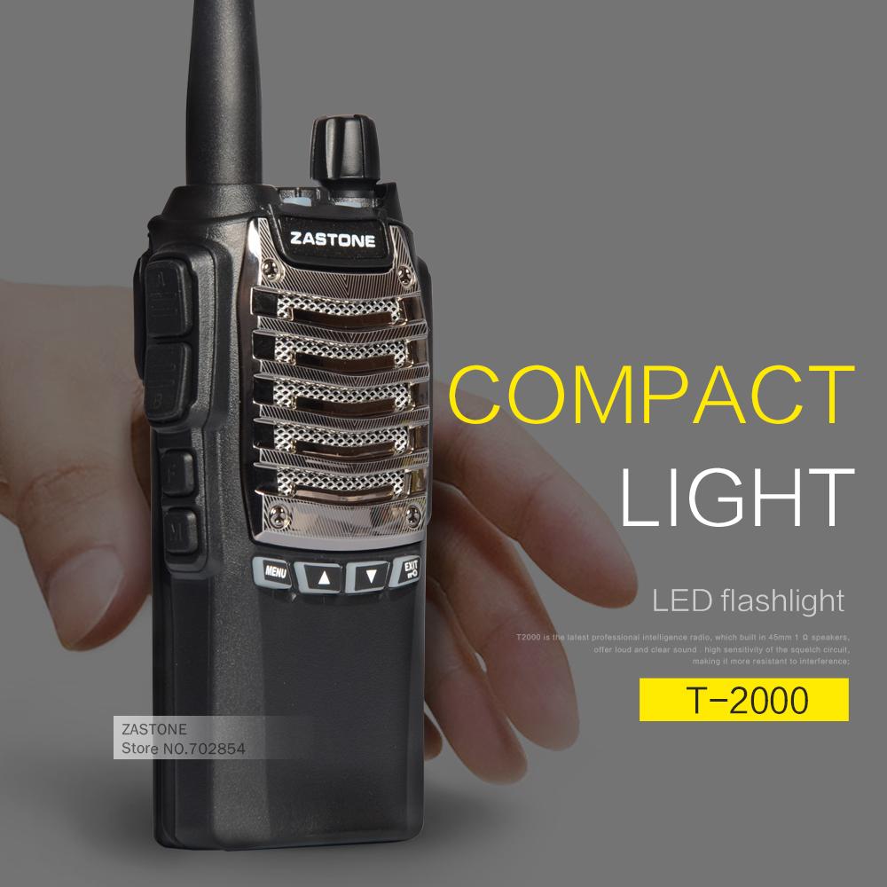 Zastone T2000 UHF 400-480MHz 16 Channel Powerful Walkie Talkie Portable Transceiver Radio(China (Mainland))