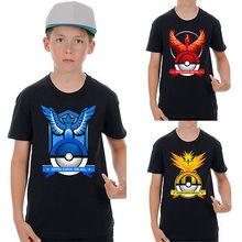 Kids Cartoon ash ketchum pikachu valot instinct mystic T shirt Baby Boys Short Sleeve Pokemon Go Summer Tee Tops 1-7Y