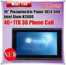 F windows 7 tablet pc 10 inch 3G calling intel atom N2600 4G Ram 1TB HDD wifi(China (Mainland))