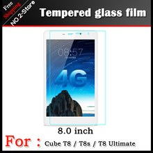 Tempered Glass film for Cube T8/T8S 8inch tablet pc,Anti-shatter front Screen protector Protective HD films for cube T8 Ultimate