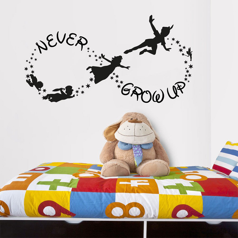 popular peter pan wall decals buy cheap peter pan wall decals lots from china peter pan wall. Black Bedroom Furniture Sets. Home Design Ideas