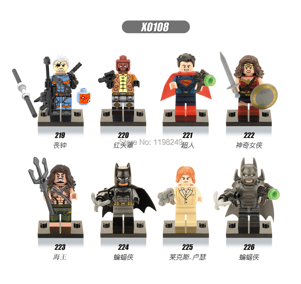 Super Heroes Batman Dawn Justice death strock Red hood Building Blocks MiniFigures kids Toys Compatible legoe - Weijinda Crafts store