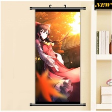 45X95CM Toho Eastern Touhou Project Reimu Hakurei Cartoon Anime art wall picture mural poster art cloth scroll canvas painting