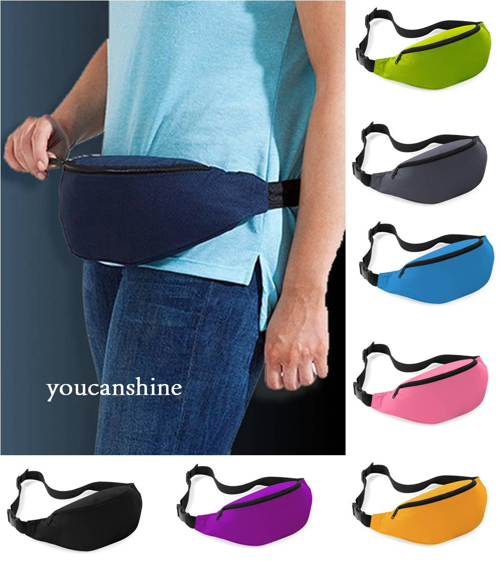 Fashion Candy Color Sport Cycling Running Jogging Gym Bike Bicycle Fitness Fanny Pack Belly Bum Phone Money Pouch Waist Belt Bag - J-WELL store