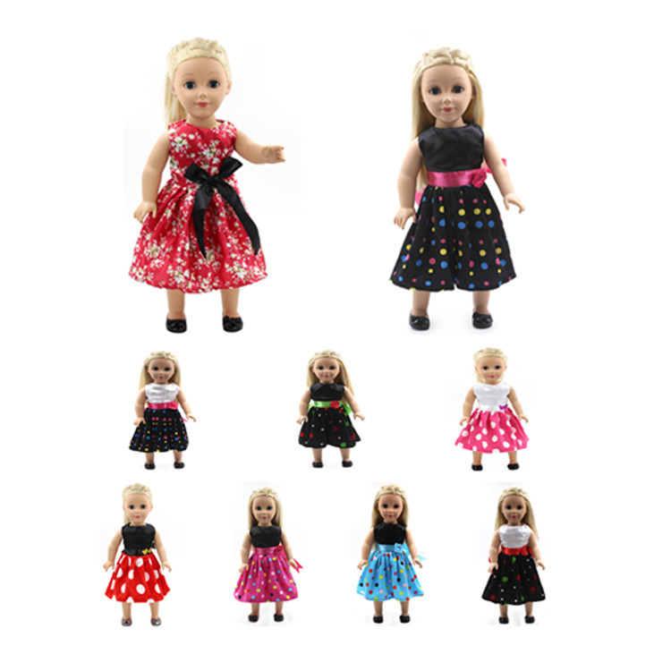 New Arrival lot of styles Dress fits 18 Inch American Girl Dolls Special Clothes Xmas Gift,girl brithday gift MG142-156(China (Mainland))