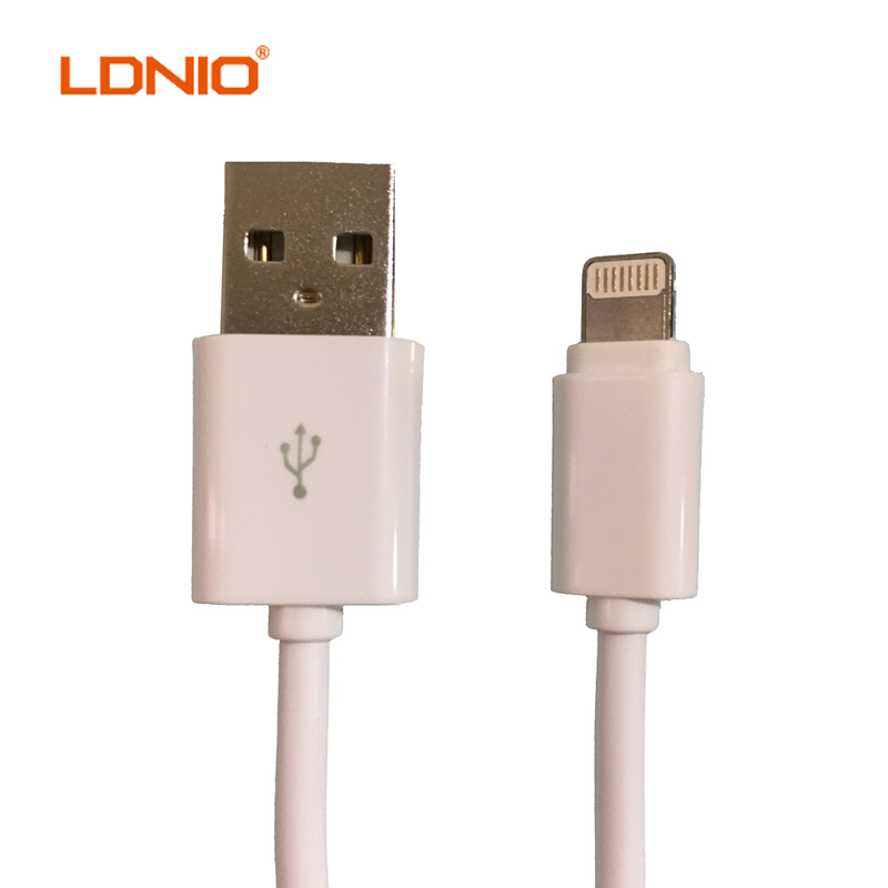 SALE LDNIO Original 1M 8-Pin White USB Cable Data Sync Charging for iPhone 5 5s 6 6s 7 plus iPad Charger Cable Support IOS9 Cabo(China (Mainland))