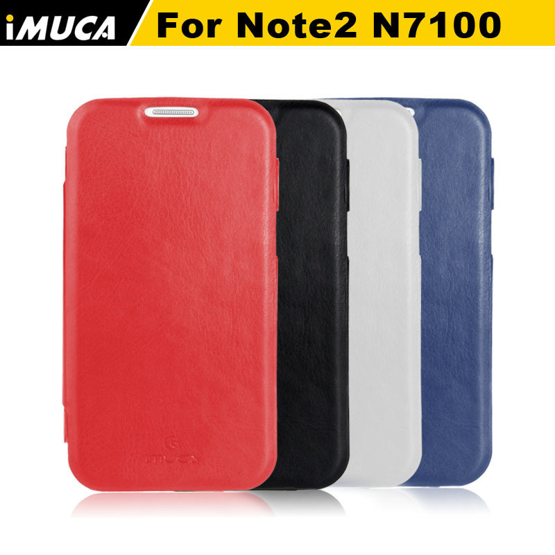 Battery Housing Flip Leather Case For Samsung Galaxy Note 2 N7100 Back Cover with Retail Box Free Shipping+Screen Protector