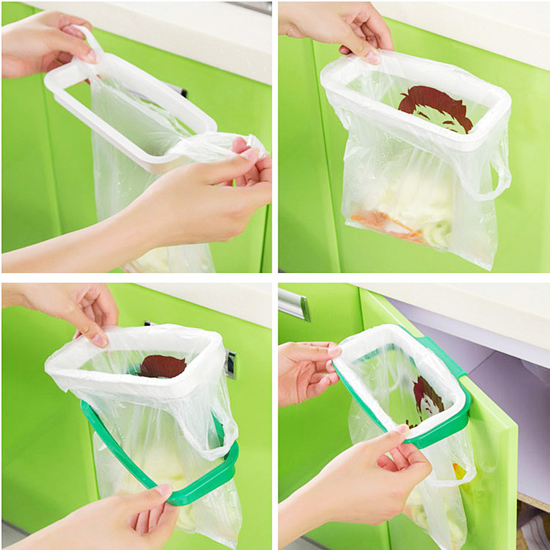 Portable Hanging Trash Rubbish Garbage Bag Holder Garbage Rack Cupboard Cabinet Storage Hanger VBL56 P0.3(China (Mainland))
