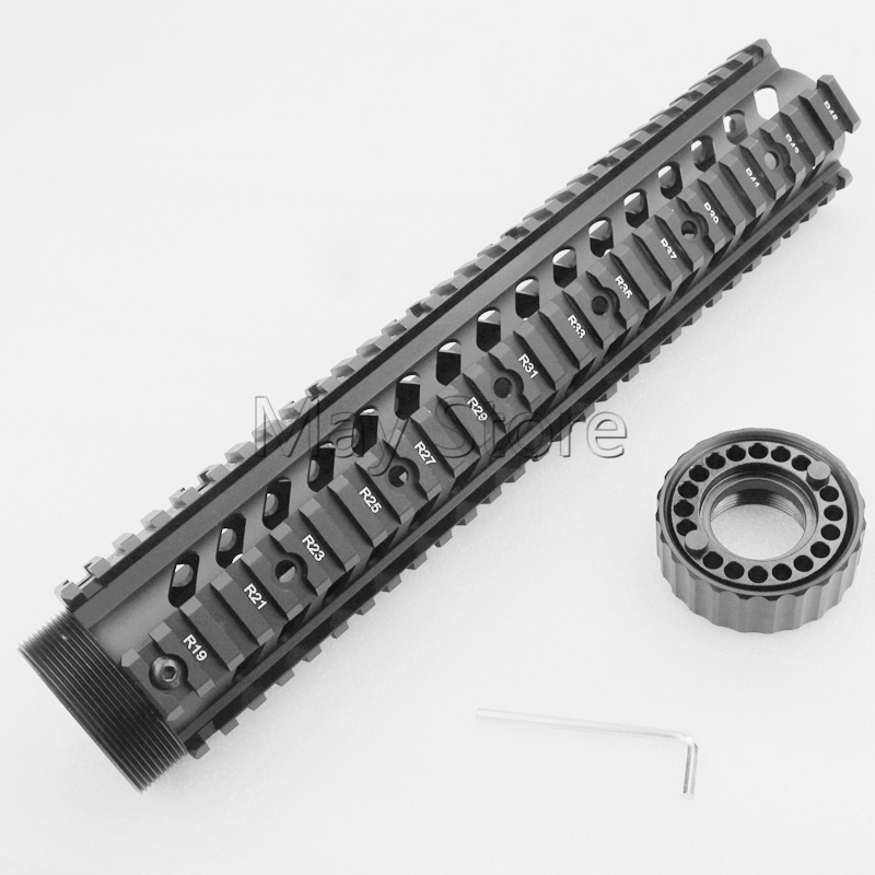 "Hunting Gun Accessories Tactical Shooting Free Float Heavy Duty 12"" Length Handguard For AR15 M4 M16(China (Mainland))"