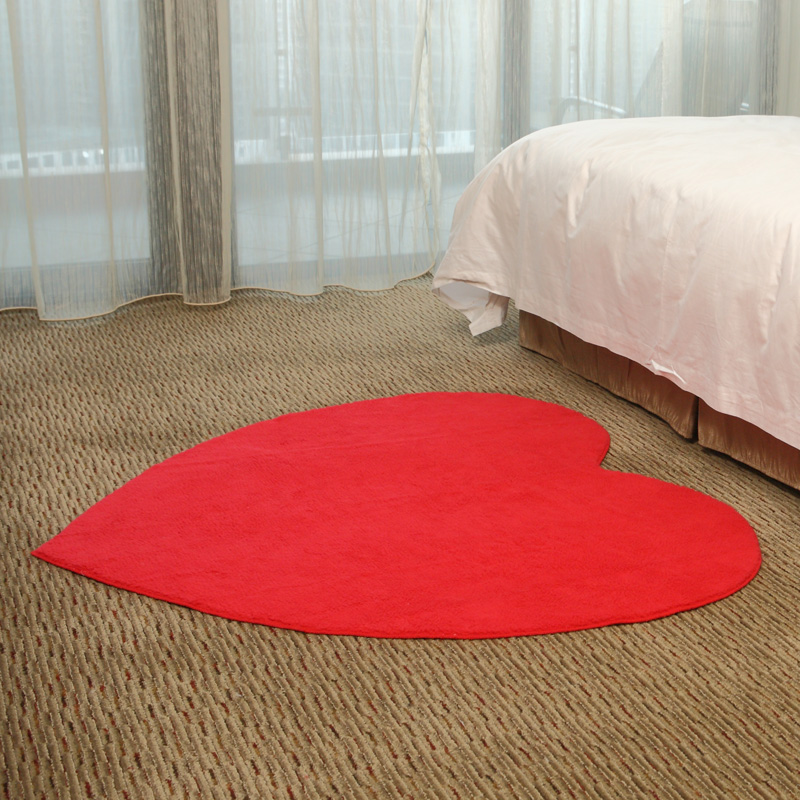 130x120cm red heart living room bedroom parlor table floor