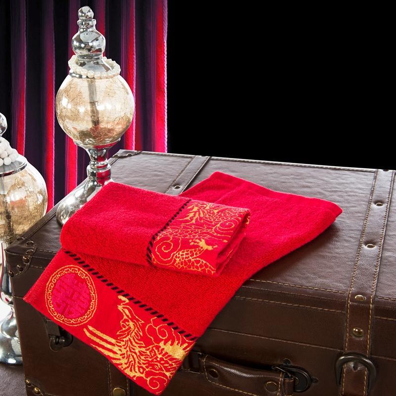 2 piece/lot 100% organic cotton face towel.wedding decoration towel,BFJ-7104(China (Mainland))