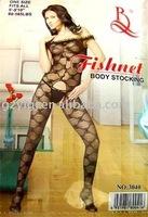 6PCS/Lot sexy Lingerie lace body stocking open crotch black Teddies & Bodysuits 3040