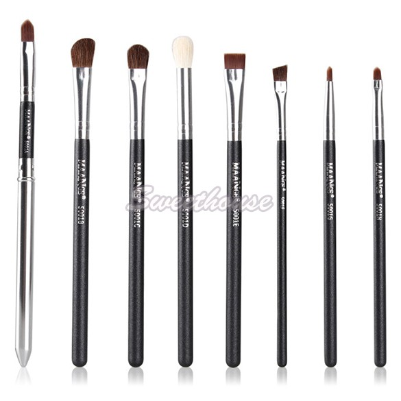 8 pcs Black Handle Professional Eye Shadow Makeup Brushes Set Top Quality Cosmetic Eyeshadow Brush Kits 12(China (Mainland))