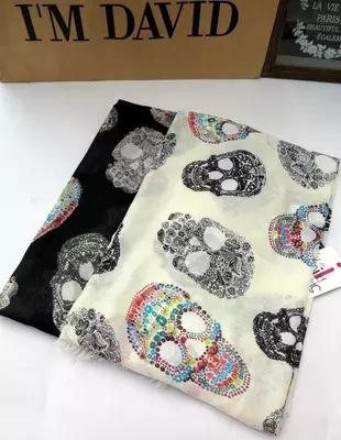 Оригинальный один большой европейский и американский стиль негабаритных цвет череп кито дикого классический мода шарфы