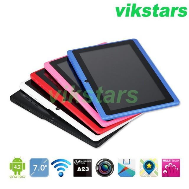 7 дюймов android-автомобильный планшет + A33 четырехъядерных процессоров планшет + андроид 4.4 4 г + двойная камера + WIFI + bluetooth OTG емкостный экран разведки