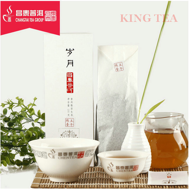 2014 ChangTai SuiYu 100g*4bag=400g Loose Leaf YunNan Organic Pu'er Raw Tea Weight Loss Slim Beauty Sheng Cha