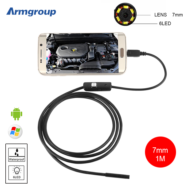 Endoskop 7mm Android USB Endoscope Borescope Waterproof Endosopio Inspection Pipe Endoscope for Android Phone OTG IP67 Camera(China (Mainland))