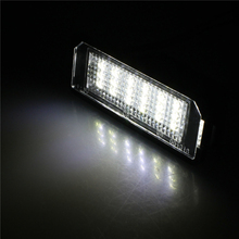 Buy 1 Pair 12V Car License Plate Light External Lights Replacing Lamp SMD3528 White Light 18 LEDs Bulb VW Golf 4 Eos 06 for $9.09 in AliExpress store
