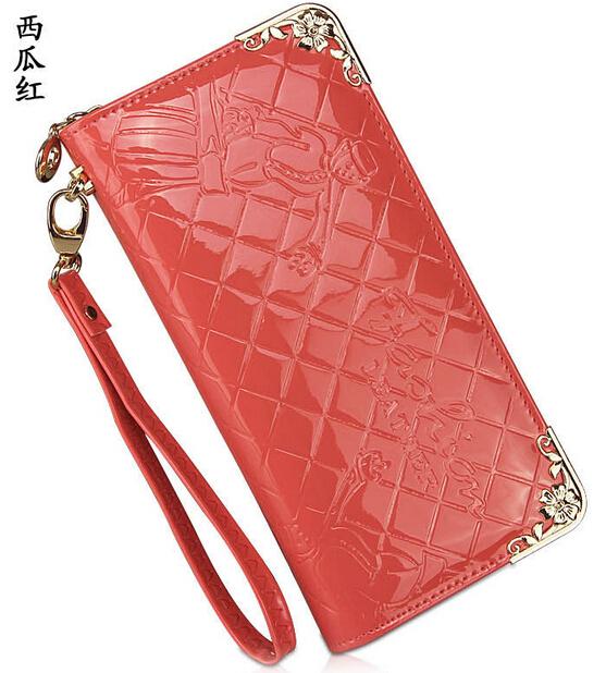 2015 New Women Pu Leather Long Purse Plaid Zipper Wallet Phone Case fashion lady handbag Girl bags - Li Mrs's store
