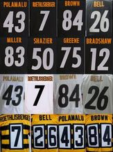 7 Ben 12 Terry 26 Le'Veon 43 Troy 50 Ryan 84 Antonio 26 leveon elite jerseys White and Black,Size 40-56(China (Mainland))