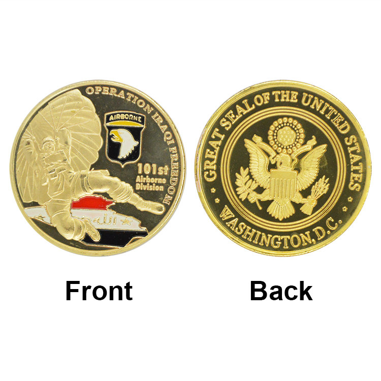 2015 New Product U.S. ARMY 101st Airborne Division Coin Gold Plated Coin Souvenir Coin 40*3mm Wholesale Antique Coin(China (Mainland))