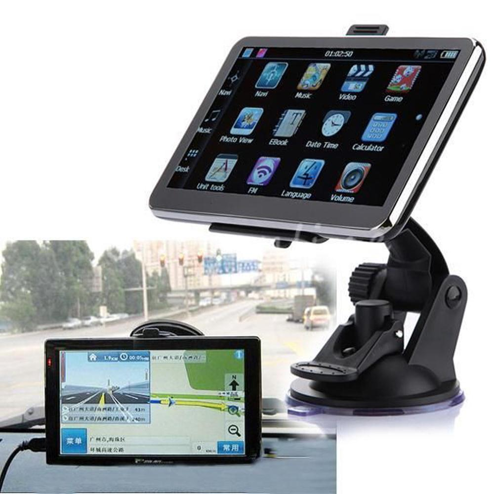 Hot Sale High quality high-grade 4GB GPS Auto Navigation 5 inch TFT LCD Navigator System Car FM MP3 MP4 Free Map free shiping(China (Mainland))