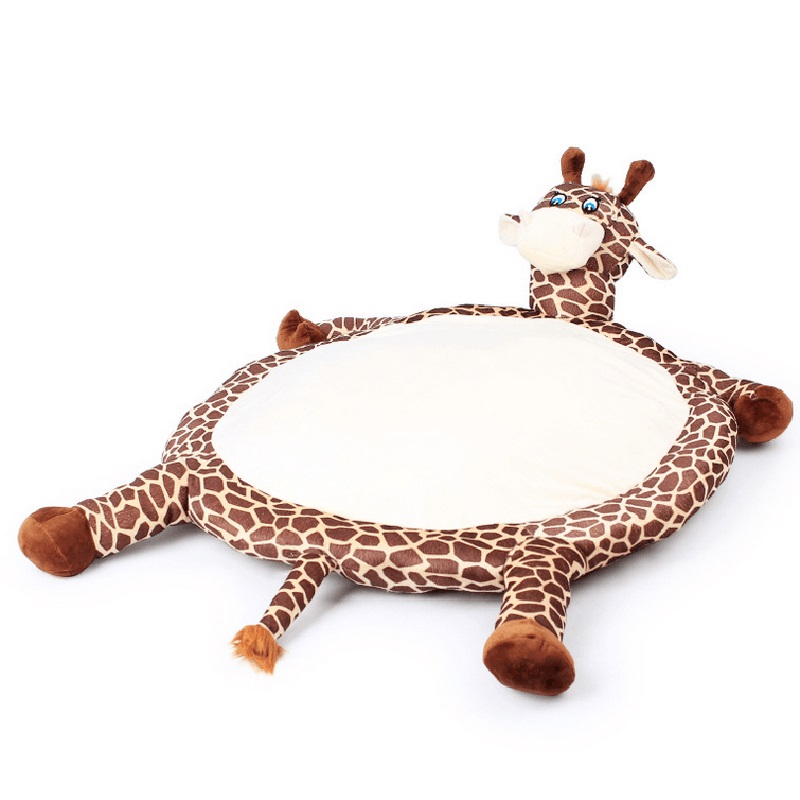 Dog pad Cartoon Giraffe Dog Cushions Pippi Scoop Washable Simulation Pet Kennel Cat Round Bed Two Colors(China (Mainland))