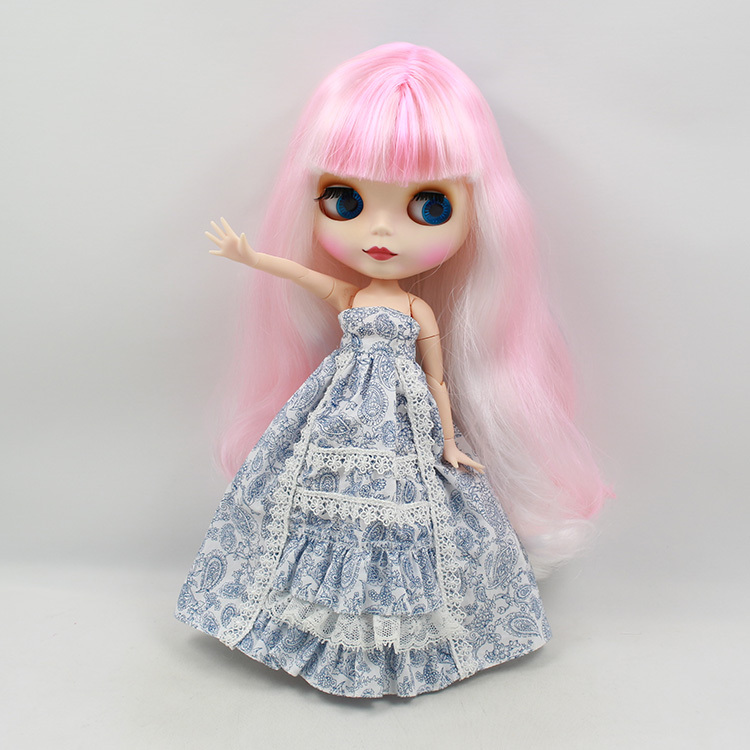 BlythNude Doll For Series No.280BL136101062271215 Joint body pink mix blue Hair  Suitable For DIY Change BJD Toy For Girls<br><br>Aliexpress