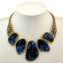 Top Sell Items Vintage Chunky Chains Bib Statement Chokers Necklaces Fashion Collars For Women Dress CE613(China (Mainland))