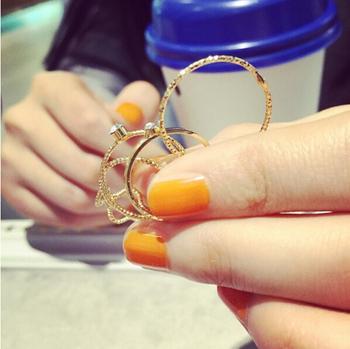 Crystal Rhinestone Ring (5 Pcs/Set)