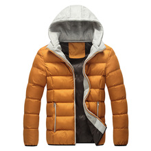 The new men's winter coat warm hooded jacket Korean male padded jacket tide thick padded comfort Parkas