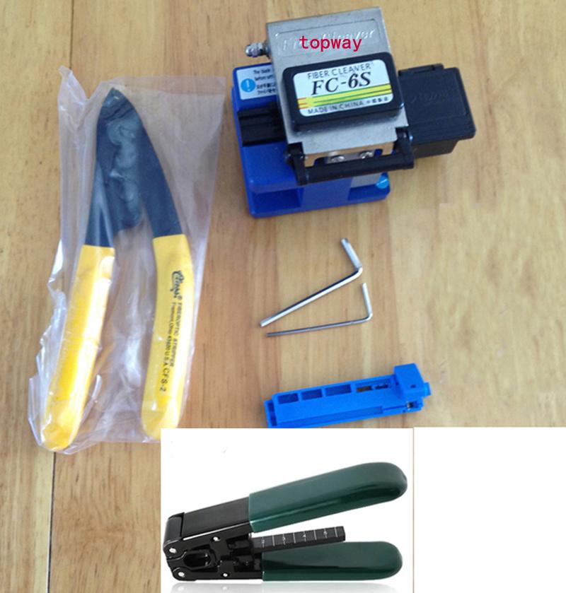 7IN1metal body Fiber Cleaver FC-6S SUMOTOMO Optical Fiber Cleaver+CFS-2 FIBER CUTTER+cale stripper(China (Mainland))
