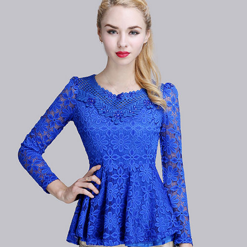 Lace Blouse Wholesale Silk Pintuck Blouse