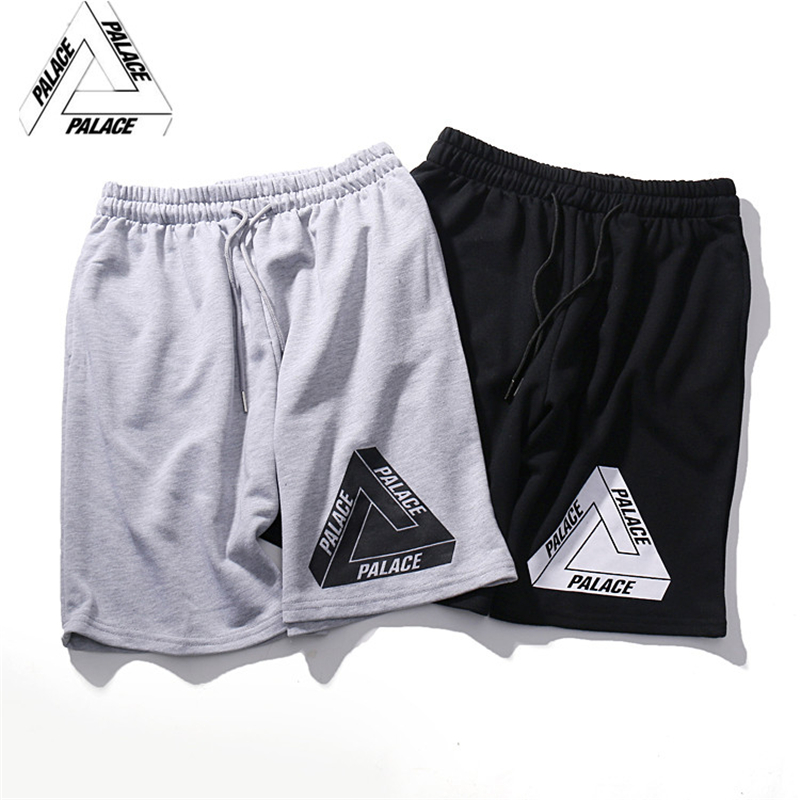 Popular logo shorts the new 2016 palace skateboard summer triangle men loose hot style movement(China (Mainland))