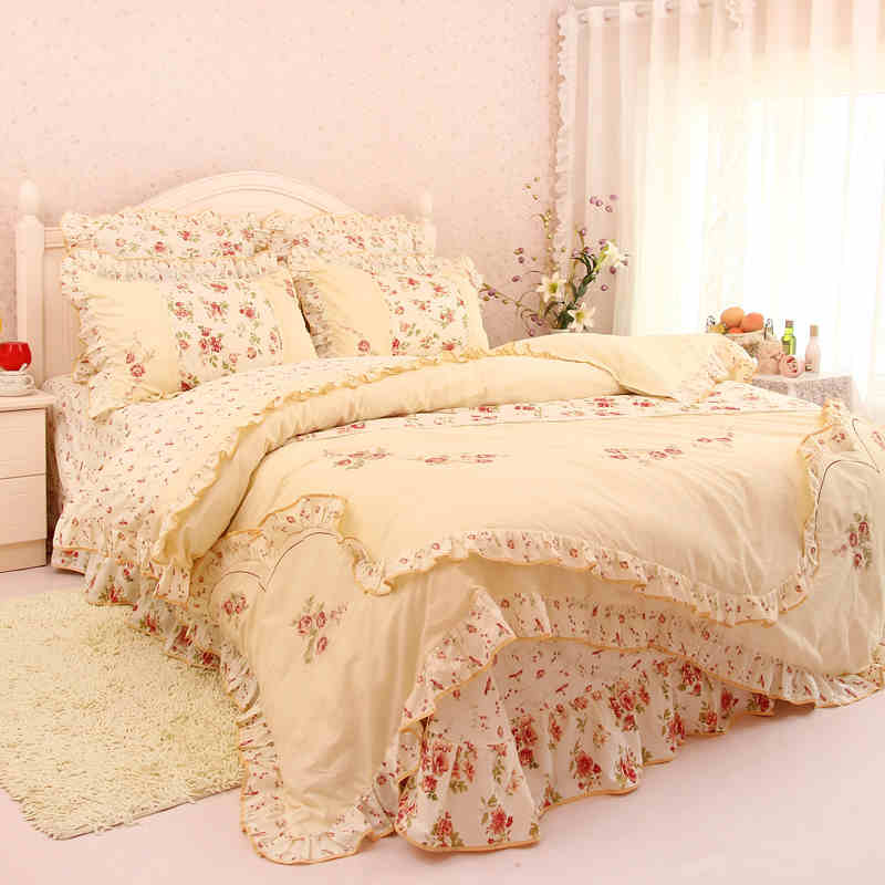 online kaufen gro handel lila blumen bettw sche aus china lila blumen bettw sche gro h ndler. Black Bedroom Furniture Sets. Home Design Ideas