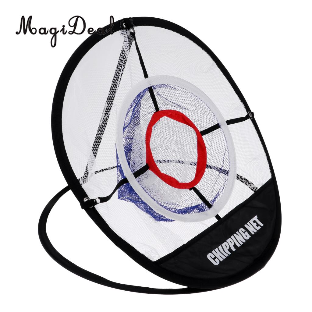 Foldable Golf Training Chipping Carrying Net Practice Hitting Aid Tool Accessories for Indoor Outdoor use with Storage Bag