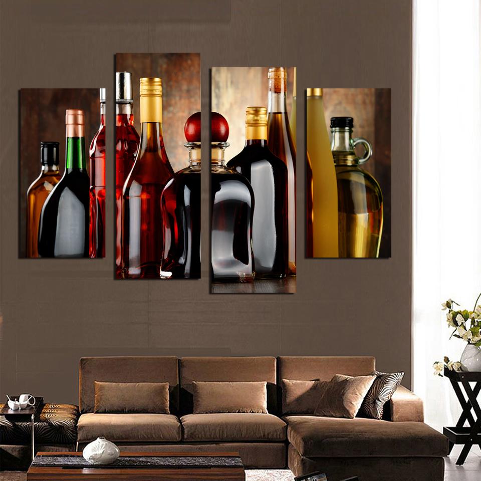 Achetez en gros peinture vin bouteille en ligne des - Cuadros para comedores modernos ...